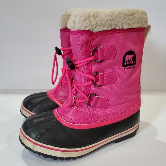 Sorel Other - Sorel  kids pac boot size 3 pink